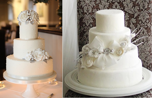 3. winter rose wedding cake by Cake Maison UK, Danni Beach Photography, Cakes in Art right