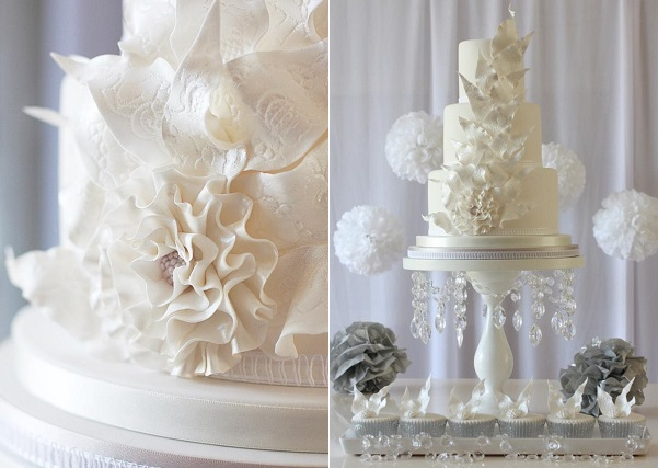 6. The Ice Queen cake winter wedding cake by Rachelle's Cakes