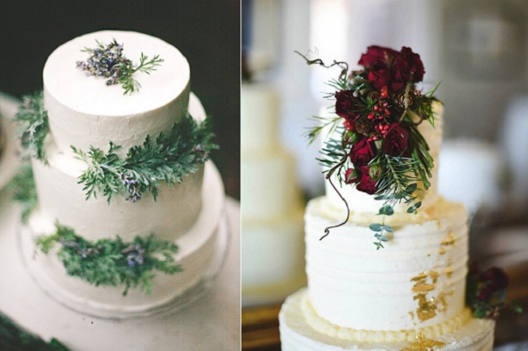winter forest wedding cakes from cakewalkhome. blogspot left, right The Little Cupcakery NI, You Them Us Photography, Scarlet & Crimson Flowers