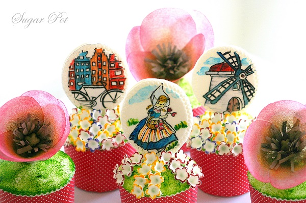 Amsterdam, The Netherlands cupcakes by Priya Maclure of Sugarpot