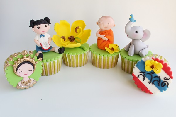 Bangkok cupcakes by Brenda Walton of Sugar High Inc