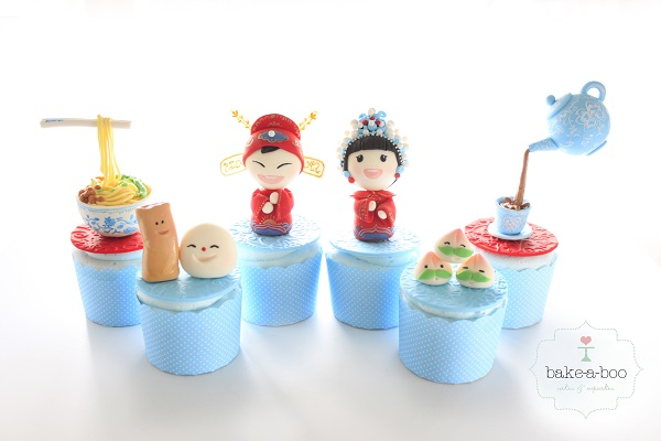 Bejing cupcakes by Elina Prawito of Bake A Boo Cake Design