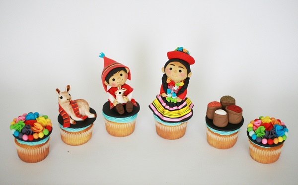 Cusco, Peru cupcakes by Sharon Ho of Bloom Cake Company