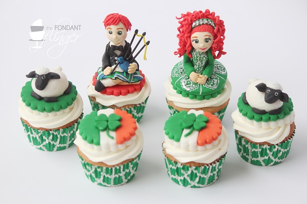 Galway, Ireland cupcakes by Rachel Skvaril (The Fondant Flinger)