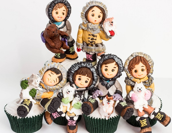 Juneau, Alaska cupcakes by Sachiko Windbiel (Mimicafe Union New York)