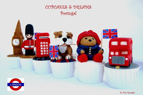 London cupcakes by Ana Remigo of Cupcakes & Dreams, Portugal