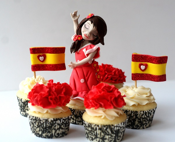 Madrid, Spain cupcakes by Shawna McGreevy of McGreevy Cakes