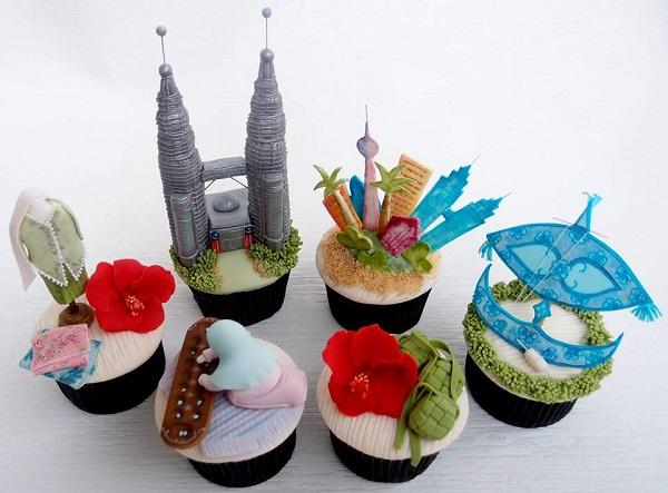 Malaysia cupcakes by Sabrina Jiffry ( Sabz Cakes)