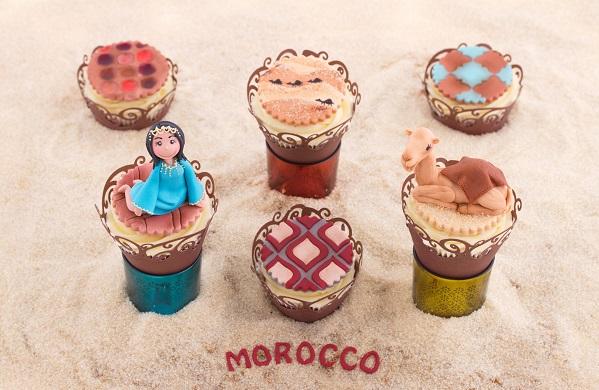 Merzouga, Morocco cupcakes by Katrien Van Zyl (Katrien's Cakes)
