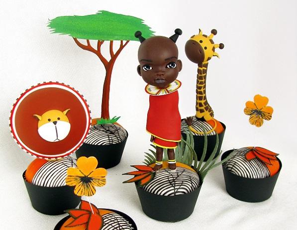 Nairobi, Kenya cupcakes by Dorina Xhaxho (Il Mondo di Dorina)