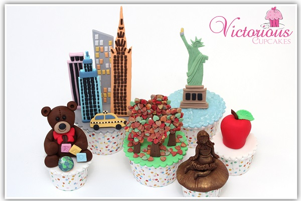 New York City cupcakes by Victoria Threader of Victorious Cupcakes