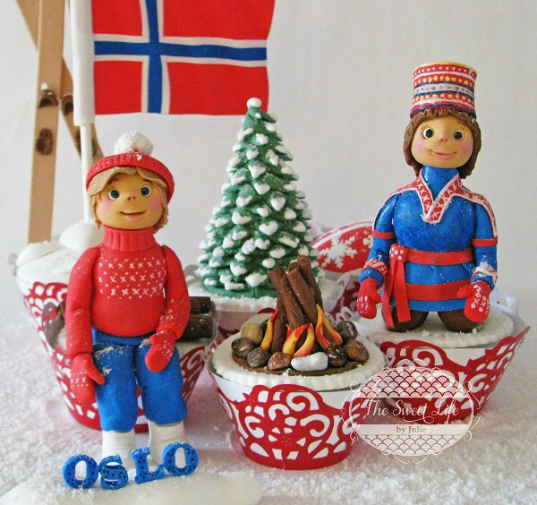 Oslo, Norway cupcakes by Julie Tenlen of The Sweet Life Cakes & Cookies by Julie