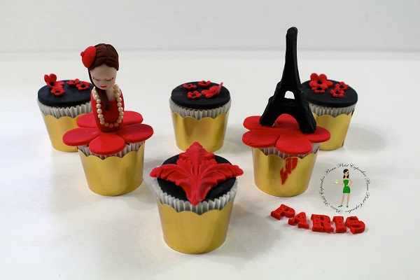 Paris cupcakes by Candace Chand of Beau Petit Cupcakes