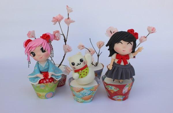 Tokyo, Japan cupcakes by Joly Diaz of Viva La Cake