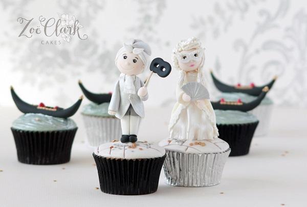 Venice, Italy cupcakes by Zoe Clark Cakes