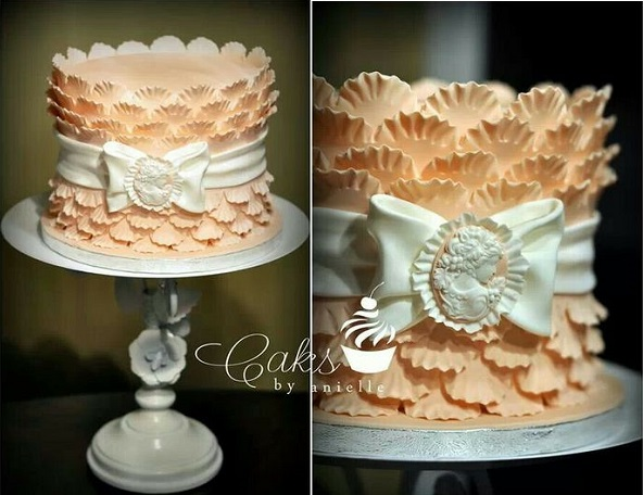 scalloped frill cake by Cakes by Danielle