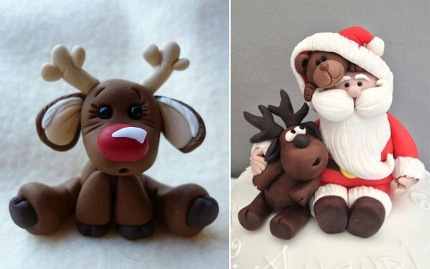 reindeer cake toppers (images via Pinterest, uncredited)