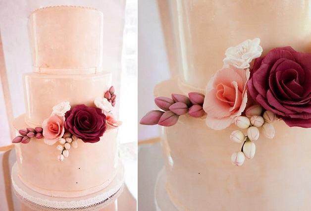 Gumpaste Buds And Sugar Flowers Watercolour Wedding Cake By Bliss Pastry