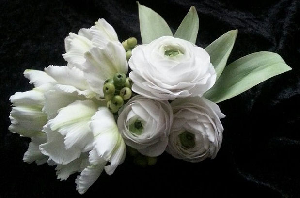 gumpaste tulips, ranuncula and buds by La Lavende Cake Boutique