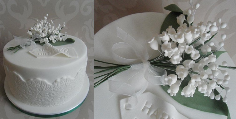 lily of the valley cake by Dulcie Blue Bakery