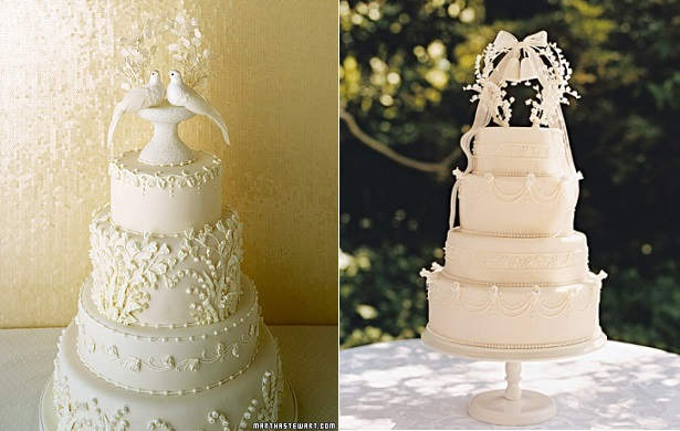 lily of the valley wedding cakes via Martha Stewart Weddings