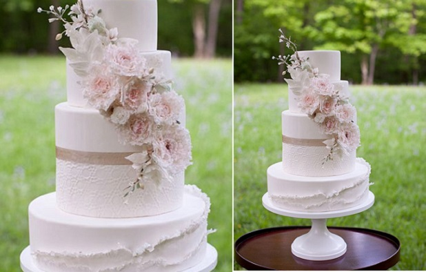 peeling layers frills wedding by Oven Art, Katherine Stinnett Photography via 100Layer Cake