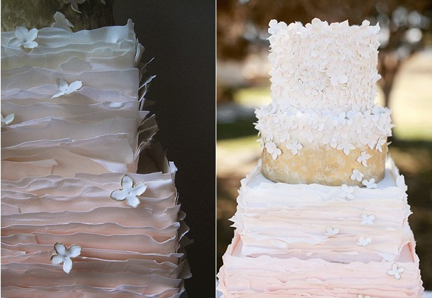 peeling layers wedding cake by Megan Joy, Cara Leonard Photography