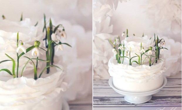 snowdrops wedding cake by Floralilie, Germany