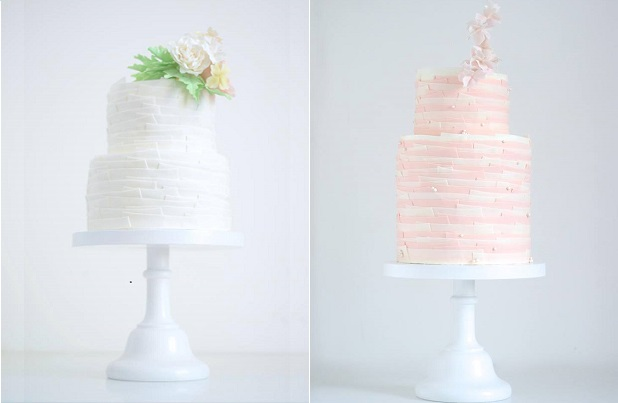 torn paper wedding cakes by T Bakes, Portugal