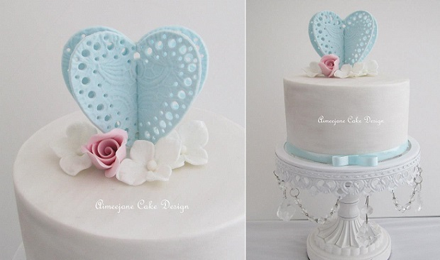 valentines cake by Aimeejane Cake Design