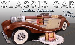 car cake tutorial by Mike McCarey on Craftsy