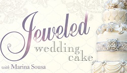 jewelled wedding cake tutorial by Marina Sousa on Craftsy