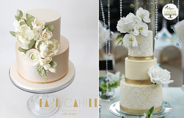 Champagne Wedding Cakes And Pale Gold By Faye Cahill Sugar Couture Cupcakes