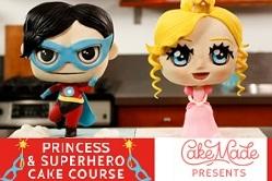 superhero cake tutorial and princess cake tutorial