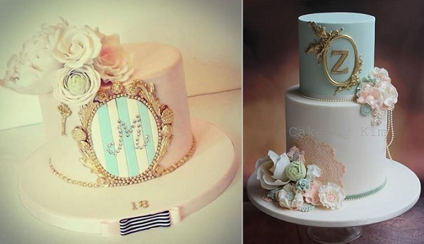 antique frame birthday cakes by Dee's Sweet Surprises left, Cake by Kim AU right