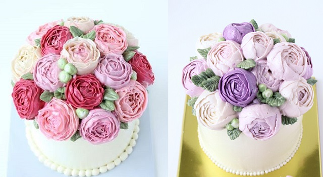 Cake Decorated With Piped Roses : Buttercream Flowers & Tutorials - Cake Geek Magazine