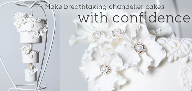 chandelier wedding cake tutorial on Craftsy
