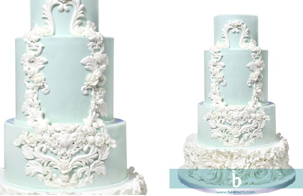 lace framed wedding cake by Berliosca Cake Boutique