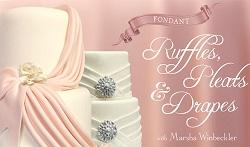 pleats & drape wedding cake tutorial on Craftsy