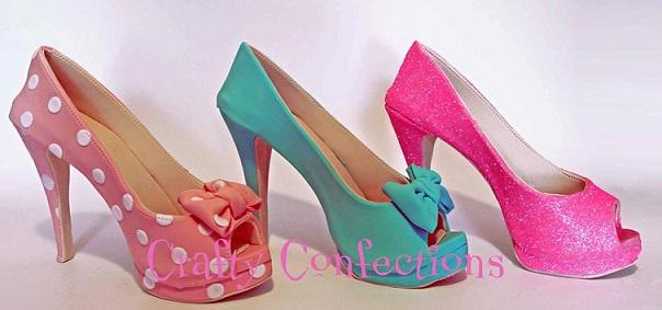 sugar shoes gumpaste shoes by Crafty Confections, Ireland