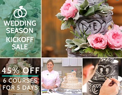 45% Off Wedding Cake Classes on CakeMade