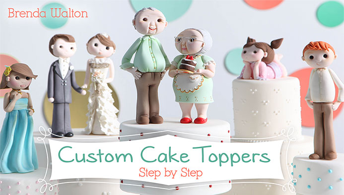 Custom Cake Toppers by Brenda Walton on Craftsy