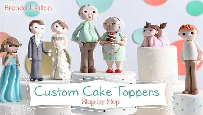 Custom Cake Toppers by Brenda Walton on Craftsy