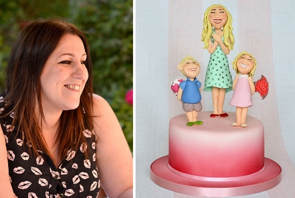 Laura Dodimead of Cakey Bakes and Mother's Day cake tutorial figure modelling tutorial