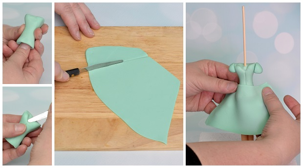 Mother's Day cake tutorial, Stage 4 by Laura Dodimead for Cake Geek Magazine