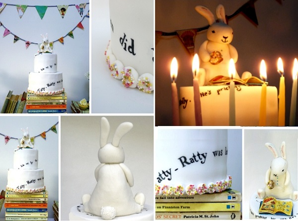 bunny rabbit cake by Nevie Pie Cakes The Book Party