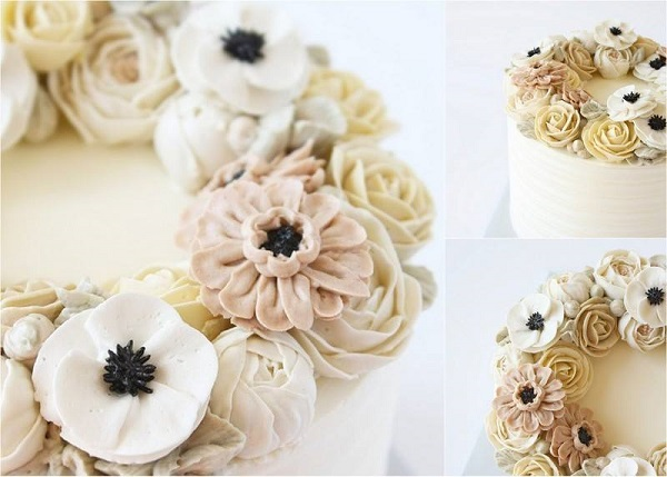 buttercream flowers by Eat Cake Be Merry
