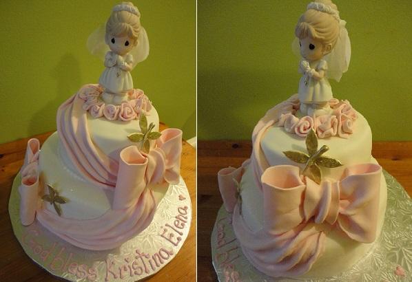 communion cake by Gina Montesino, Brooklyn NY