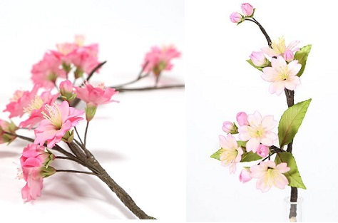 double cherry and single cherry blossoms tutorial