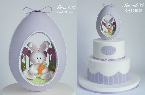 easter bunny cake by Sweet K Design